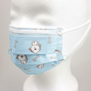 3lagige Kindermaske BLUE DOGGY (10/50 Stck)
